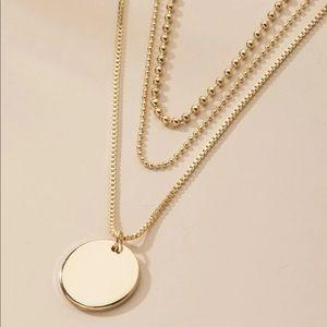 Minimalist Dainty Disc Layered Necklace